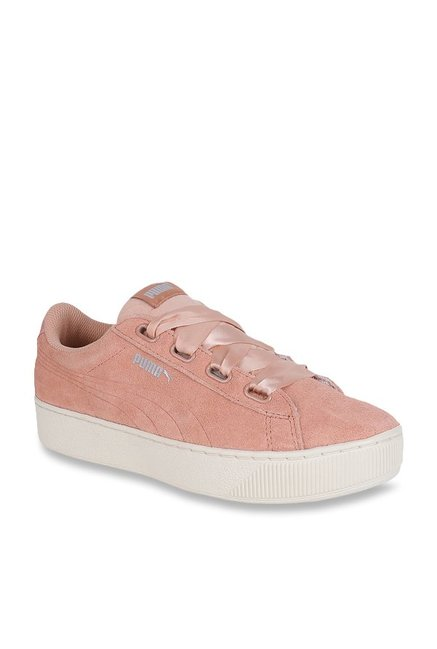 bcb082b5d7a Buy Puma Vikky Ribbon S Dusty Coral Sneakers for Women at Best ...