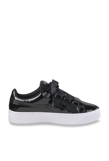 brand new b9174 26861 Buy Puma Vikky Ribbon P Black Sneakers for Women at Best ...