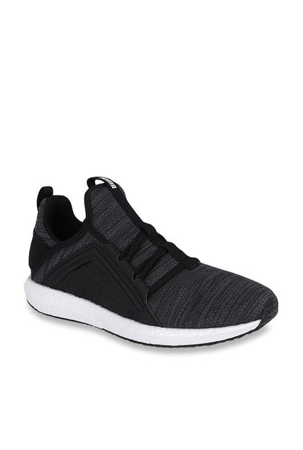 e6dd988304f Buy Puma Mega NRGY Heather Knit Black   Iron Gate Running Shoes for Women  at Best Price   Tata CLiQ