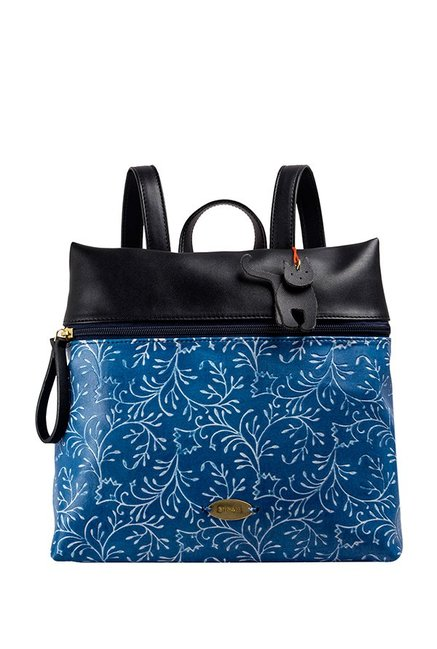 St.Holii by Holii Poppy 01 Blue & Black Embossed Backpack