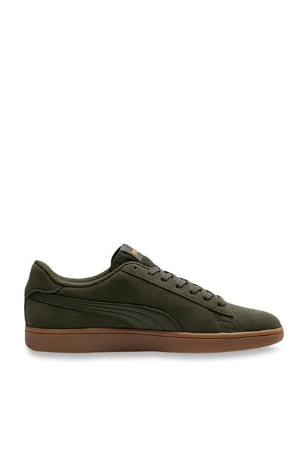Buy Puma Smash V2 Forest Night Sneakers for Men at Best Price   Tata CLiQ f22f54ffe