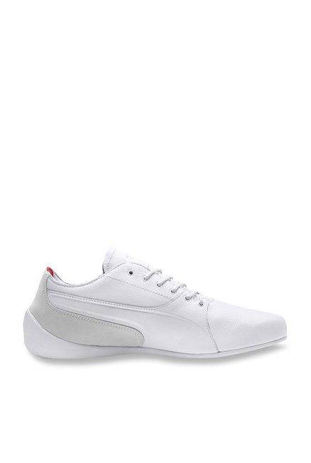 5ebeec2f5f4449 Buy Puma Ferrari SF Drift Cat 7 LS White   Grey Sneakers for Men at Best  Price   Tata CLiQ