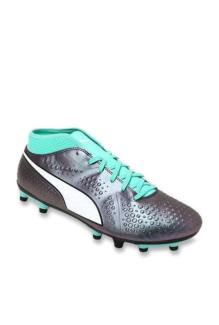 sale retailer 6f7ef 1359b Buy Puma ONE 4 IL Syn FG Biscay Green   Gun Metal Football Shoes for Men at  Best Price   Tata CLiQ