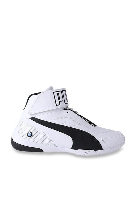 32251f293d5a Buy Puma BMW MMS Kart Cat Mid III White Ankle High Sneakers for Men ...