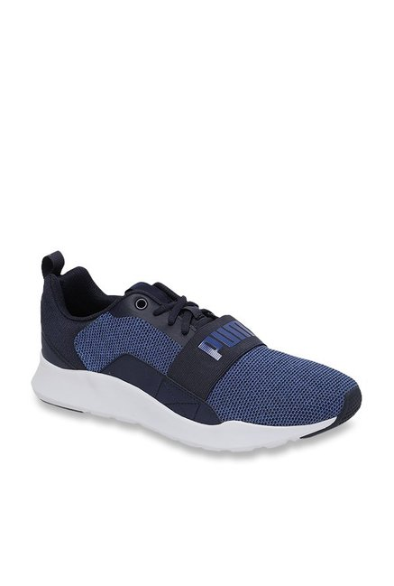 92a2e5484e1e Buy Puma Wired Knit Sodalite Blue   Peacoat Sneakers for Men at ...