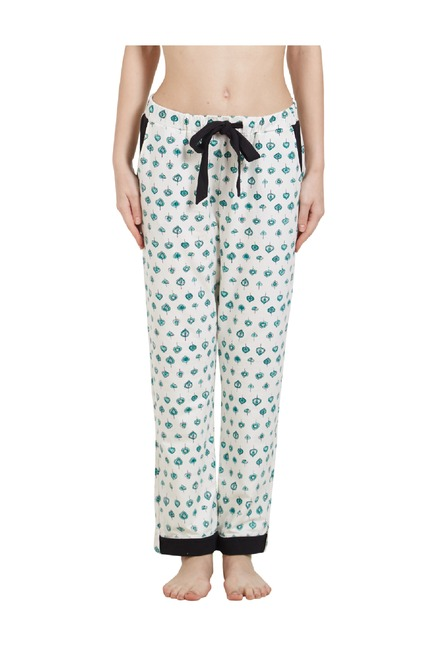 Buy Mystere Paris White Printed Pyjamas for Women Online   Tata CLiQ 25783aaf3