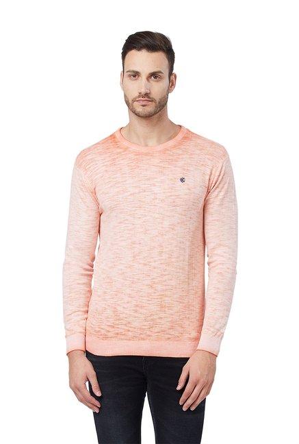 Buy Killer Peach Full Sleeves Cotton Sweater for Men Online   Tata CLiQ c85724ade