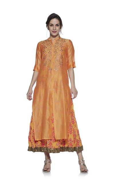 056bc32ce Buy Vark by Westside Orange Maxi Dress Ethnic Set for Women Online @ Tata  CLiQ