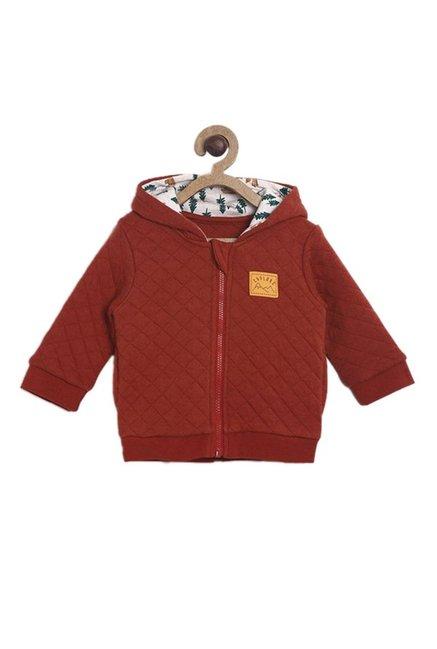 2e55626b Buy MINIKLUB Kids Brown Quilted Hoodie for Infant Boys Online @ Tata CLiQ