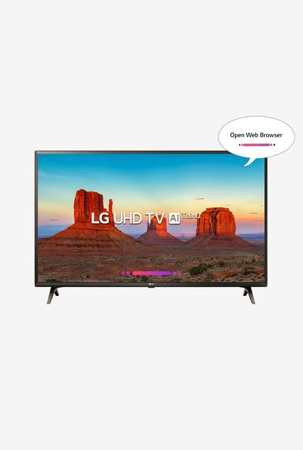 LG 49UK6360PTE 123 cm (49 inches) Smart 4K Ultra HD LED TV (Black)