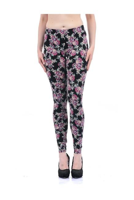 8eb68e4c9dadd9 Buy Aeropostale Black Cotton Slim Fit Leggings for Women Online ...