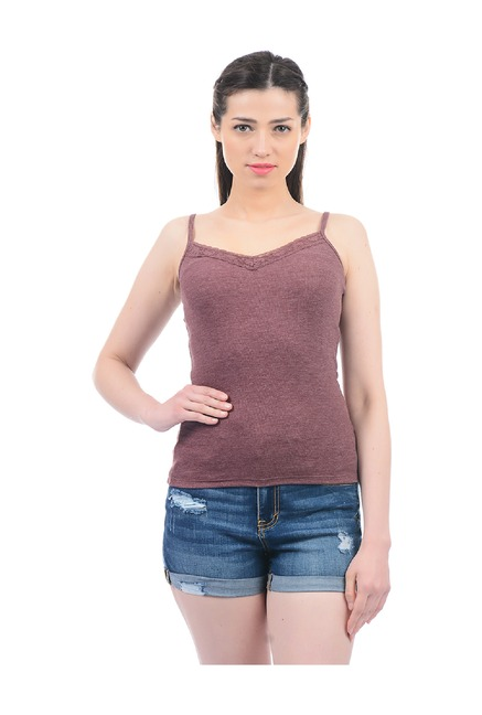 90f95fb5aac Buy Aeropostale Purple Textured Cami Top for Women Online   Tata ...