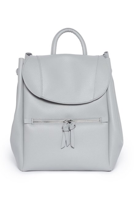 Nuon by Westside Grey Faux Leather Backpack