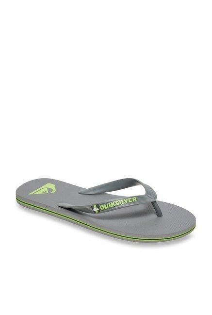 0fcb92d8d47 Buy Quiksilver Molokai Grey Flip Flops for Men at Best Price   Tata CLiQ