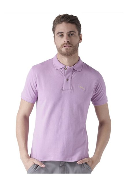 2a8575c6 Buy Jump USA Purple Cotton Polo T-Shirt for Men Online @ Tata CLiQ