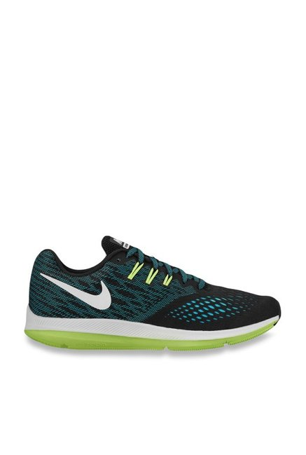 separation shoes c4772 d6104 Buy Nike Zoom Winflo 4 Turquoise Running Shoes for Men at Best Price   Tata  CLiQ