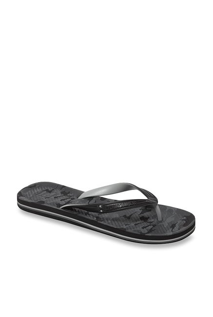Buy Quiksilver Haleiwa Black   Grey Flip Flops for Men at Best Price ... 8e42f2f6e8