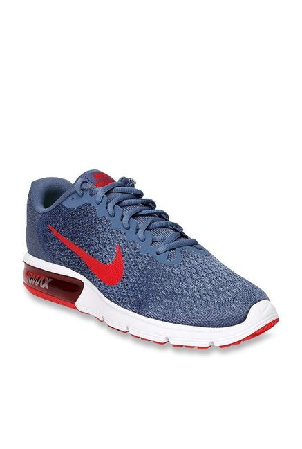 e5cdeaea5e Buy Nike Air Max Sequent 2 Blue Running Shoes for Men at Best Price @ Tata  CLiQ