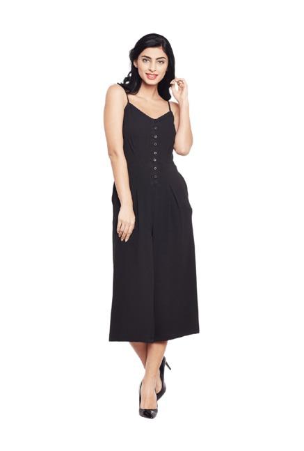 d0c1c0edebc Buy Oxolloxo Black Polyester Jumpsuit for Women Online   Tata CLiQ