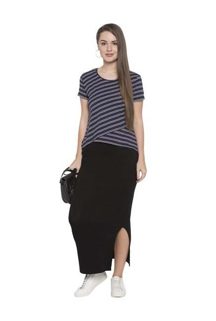 Globus Navy Striped Top