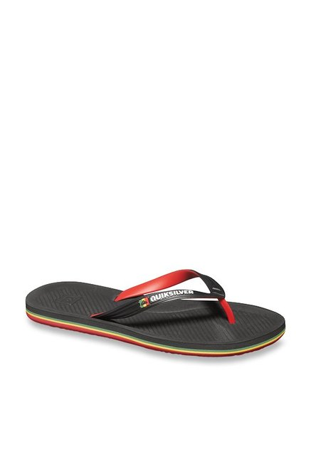 3e74135a7 Buy Quiksilver Haleiwa Black   Red Flip Flops for Men at Best Price ...