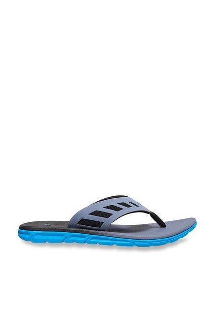 a8ac4ea98 Buy Quiksilver AG47 Flux Blue   Black Flip Flops for Men at Best ...