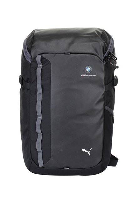 46a46fa60fde Buy Puma Bmw M Msp Dark Grey   Black Solid Laptop Backpack Online At Best  Price   Tata CLiQ