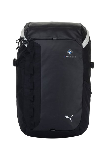 57be4efca8b3 Buy Puma Bmw M Msp Dark Grey   Navy Solid Polyester Laptop Backpack Online  At Best Price   Tata CLiQ