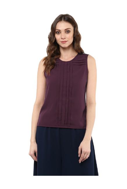 Bohobi Purple Polyester Top