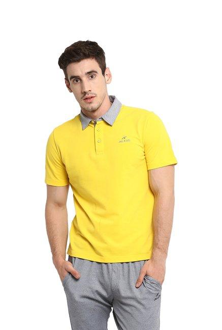 c42e010f Buy Alcis Yellow Polo T-Shirt for Men's Online @TataCliq