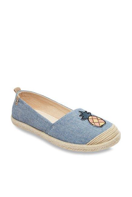 At Flora J Denim For Blue Women Ii Buy Roxy Best Shoes Espadrille WDH29YbIeE