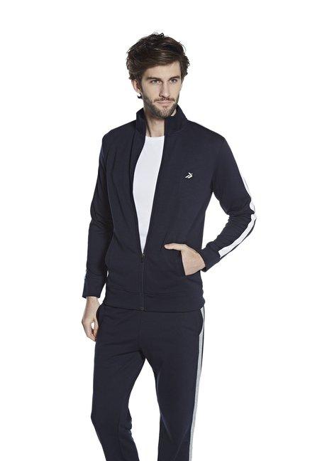 8324dbb7 Studiofit by Westside Navy Slim Fit Zippered Jacket