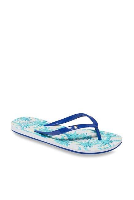 0715b1f4b Buy Roxy Portofino Blue   Turquoise Flip Flops for Women at Best ...