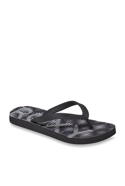ca1e4775d1b661 Buy Roxy Playa Black   Silver Flip Flops for Women at Best Price   Tata CLiQ