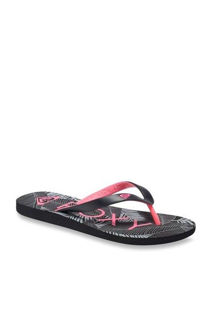 91b302b65dfd Buy Roxy Tahiti V Black   Pink Flip Flops for Women at Best Price ...