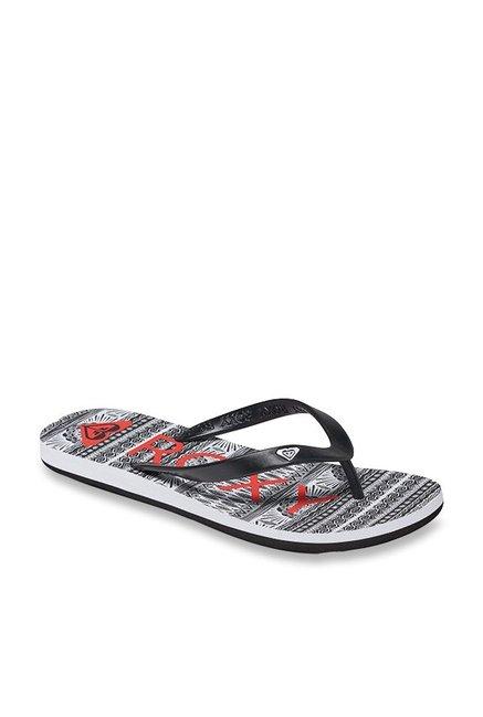 af4d482ddcbc Buy Roxy Tahiti V Black   Grey Flip Flops for Women at Best Price ...