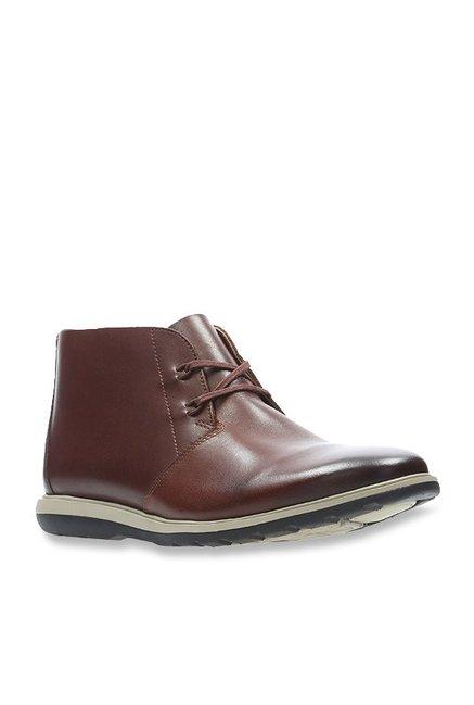 12da7ec4 Buy Clarks Glaston Mid British Tan Chukka Boots for Men at Best Price @  Tata CLiQ
