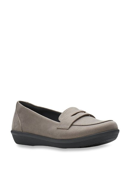 39808e5da7ddc Buy Clarks Ayla Form Grey Loafers for Women at Best Price @ Tata CLiQ