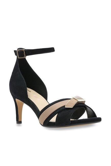 d8bdd8d806b5 Buy Clarks Amali Ice Black Ankle Strap Stilettos for Women at Best ...