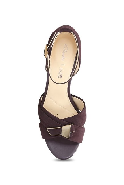 bb3506e860 Buy Clarks Amali Ice Aubergine Ankle Strap Stilettos for Women at ...