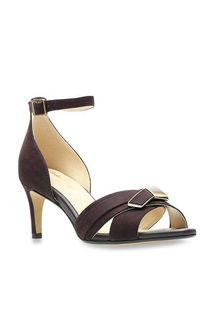 6b59c6c8052c Buy Clarks Amali Ice Aubergine Ankle Strap Stilettos for Women at Best  Price   Tata CLiQ
