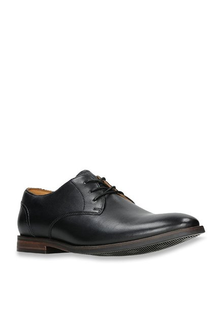 Clarks Glide Black Derby Shoes from