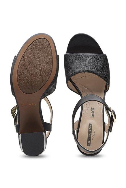 60d12c093c25 Buy Clarks Deva Quest Black Ankle Strap Sandals for Women at Best ...