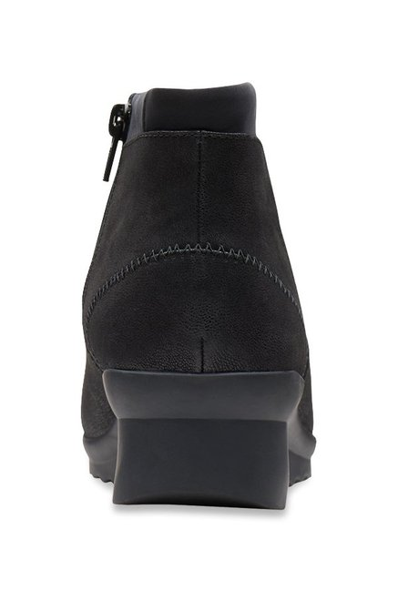 80135df098f0 Buy Clarks Caddell Sloane Black Wedge Booties for Women at Best ...