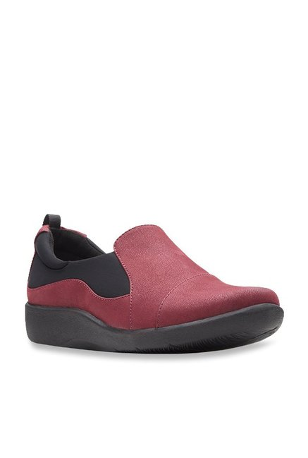 2376f7b5883b Buy Clarks Sillian Tana Burgundy Casual Shoes for Women at Best Price    Tata CLiQ