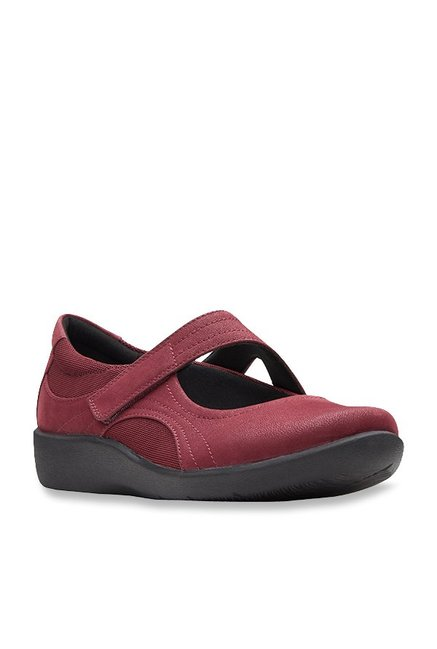 e1c9f28c9e0e Buy Clarks Sillian Tana Burgundy Mary Jane Shoes for Women at ...