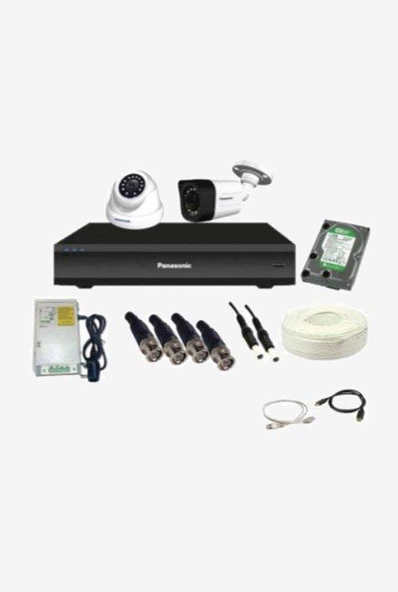 Panasonic SK-Panasonic1MP2CH1D1B1H 1 MP CCTV Camera with kit (White)