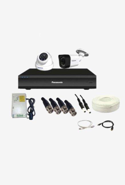 Panasonic SK-Panasonic2MP2CH1D1B 2 MP CCTV Camera with kit (White)
