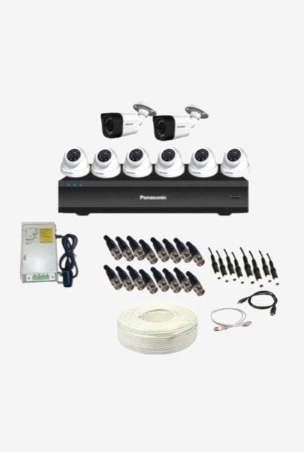 Panasonic SK-Panasonic2MP8CH6D2B 2 MP CCTV Camera with kit (White)