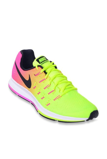 buy popular 23b36 8ce9f Buy Nike Air Zoom Pegasus 33 OC Fluorescent Green Running Shoes for Men at  Best Price   Tata CLiQ